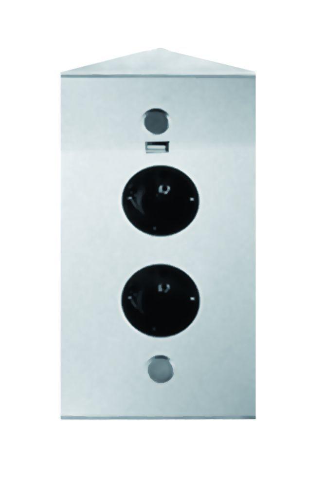 energiehoekzuil 2st stopcontact met usb lader