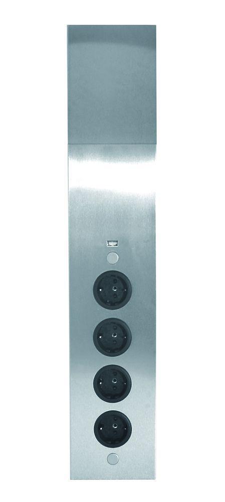 energiehoekzuil 4st stopcontact met usb lader