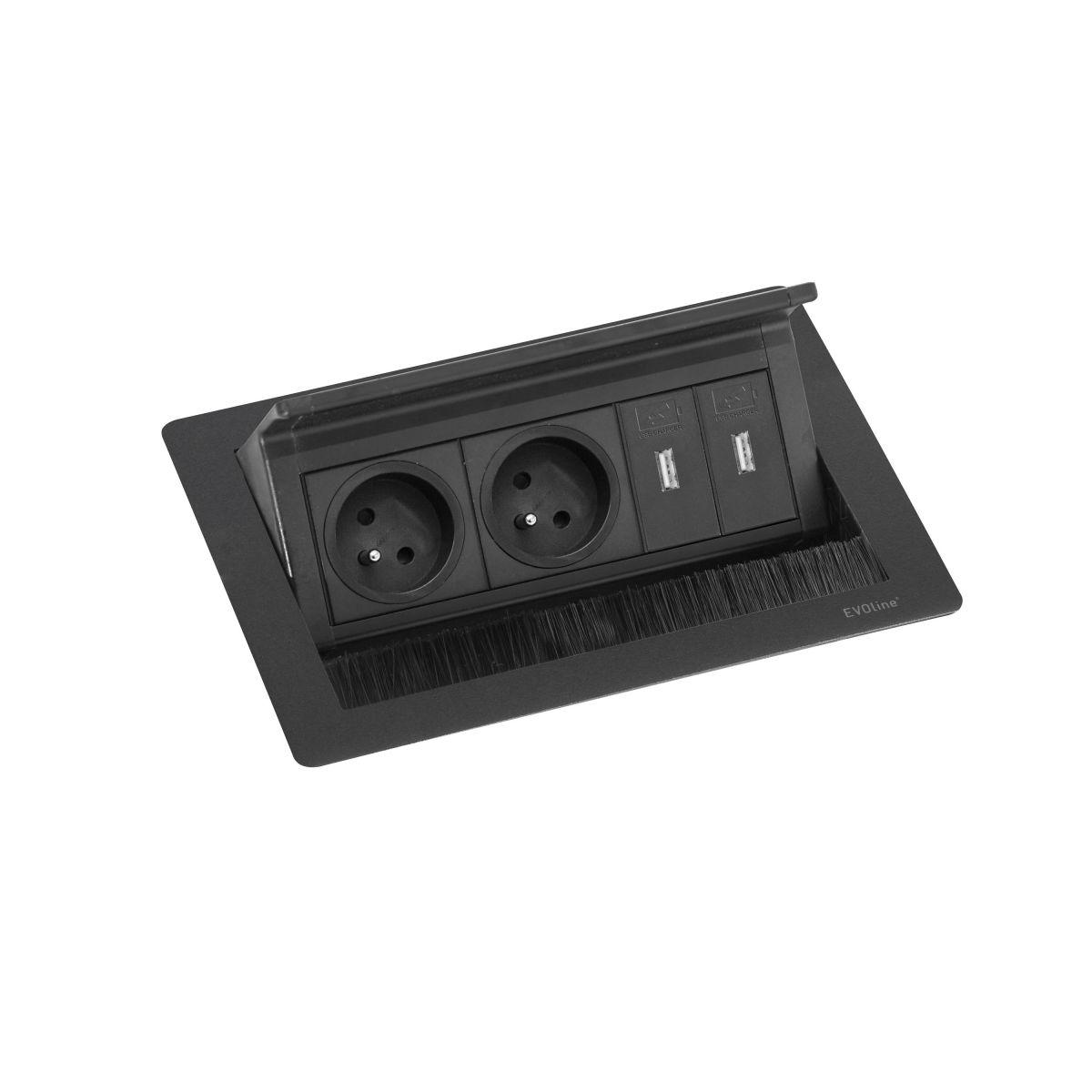 fliptop push small 2st2usb stopcontact
