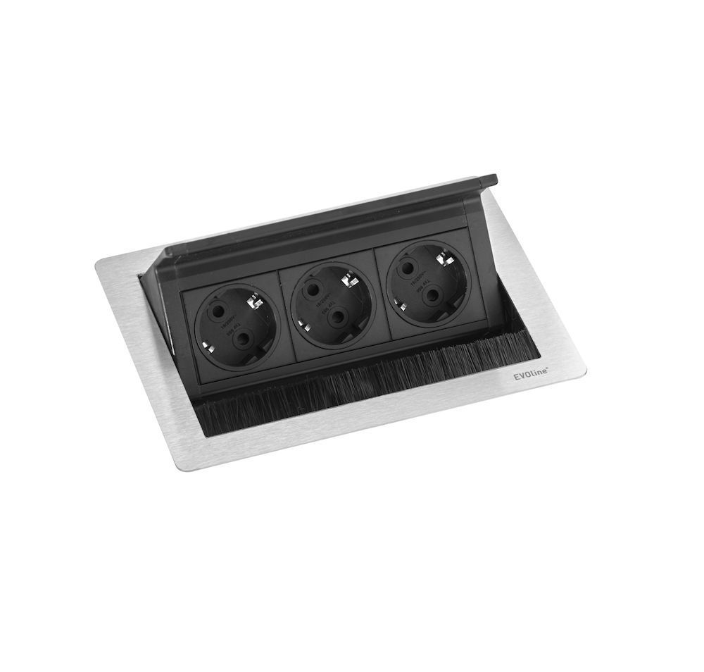 fliptop push small 3st stopcontact