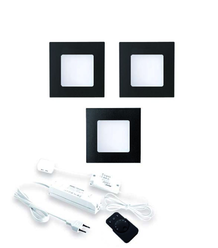 fq68 led sets met dimmer zwart 24 v hera