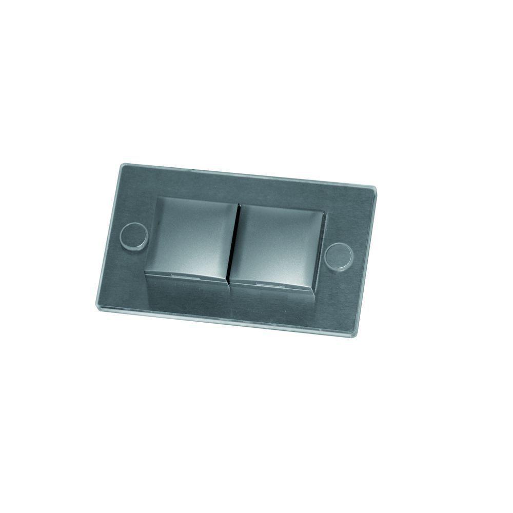 fronti inbouw stopcontact met led decorlicht belg aarding