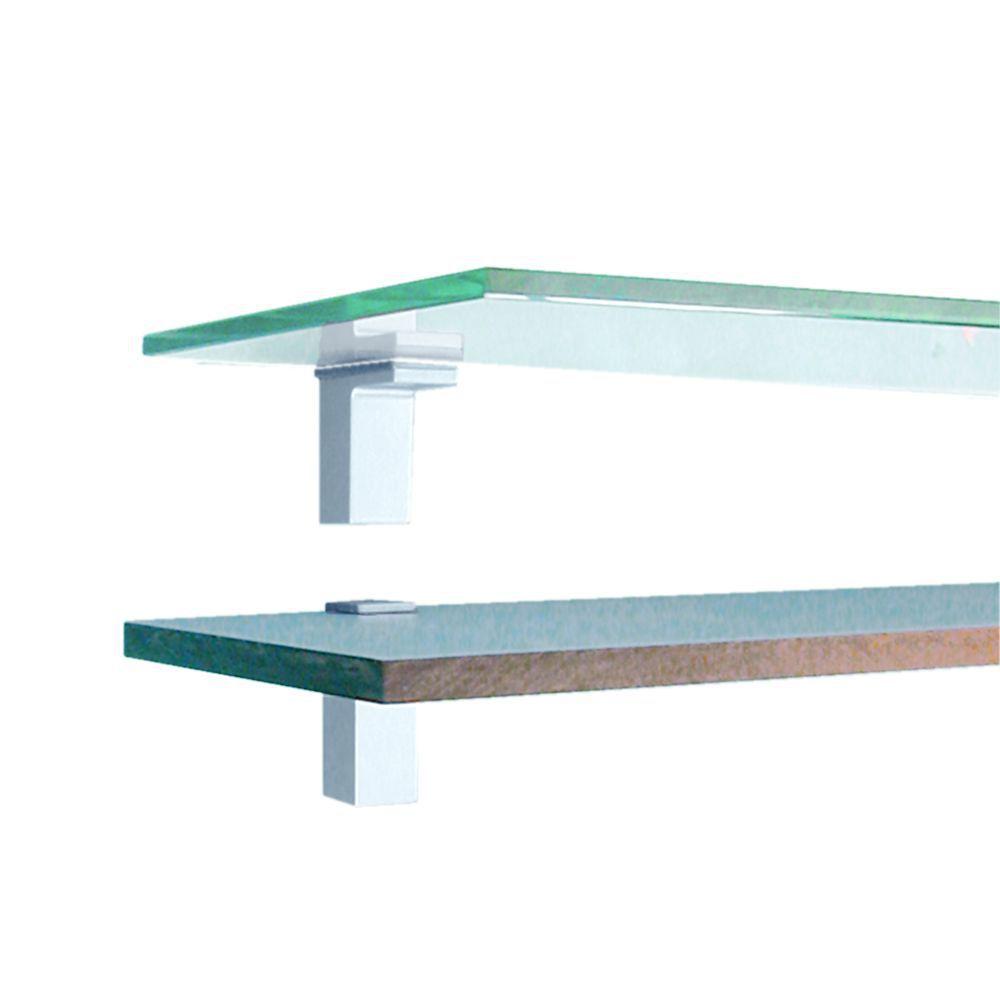 glasplaat en plankendrager square