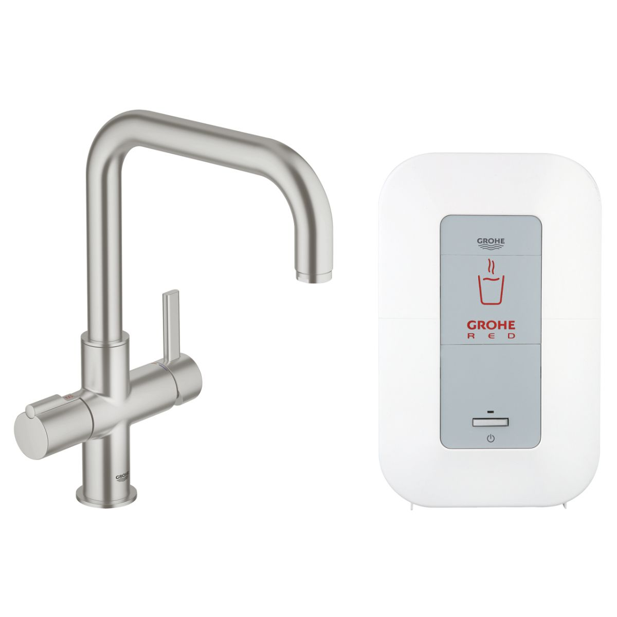 grohe red duo single supersteel 30145dc0