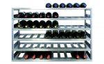 RVS Vrijstaand wijnrek - Basismodule