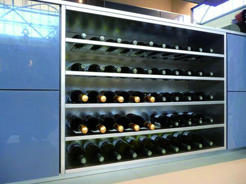 rvs vrijstaand wijnrek opbouwmodule